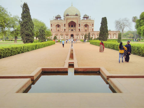 Humayun's Tomb from afar, Dehli, visited April 2019