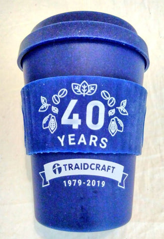 Traidcraft 40th Anniversary reusable cup - Plastic Free July, break free from plastic Dubai