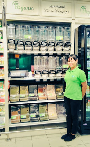 Loose Zero Waste Concept closing lack of customer footfall at my local supermarket Dubai - Plastic Free July 19 with Sabeena Ahmed