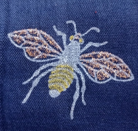 Beautiful bee scarf purchased at Julia Rose Gifts and Accessories at The Makers Market West Didsbury Manchester September 2020