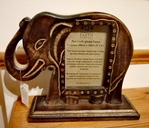 Fairtrade Ethical Ramadan 2021, Elephant Wooden Frame with Sabeena Ahmed