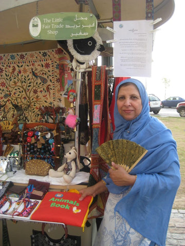 Meshar Mumtaz Bano visiting The Little Fair Trade Shop, Dubai, March 2011