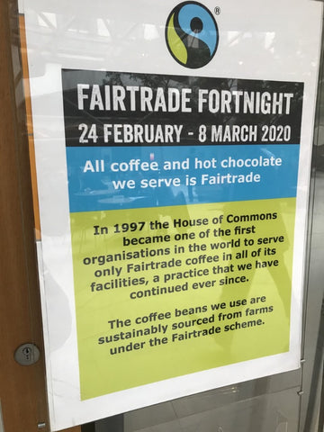 Fairtrade Fortnight 2020 at the House of Commons, UK
