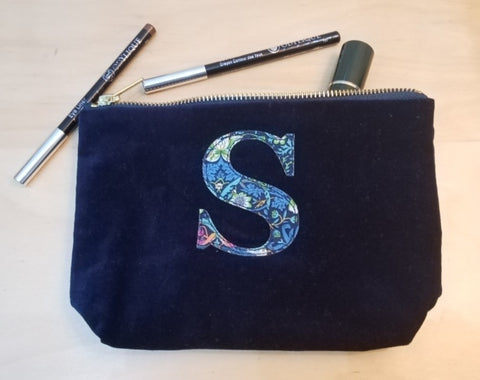 Handmade Velvet S make up bag, Zero waste week 2020, Fair trade ethical living with Sabeena Ahmed