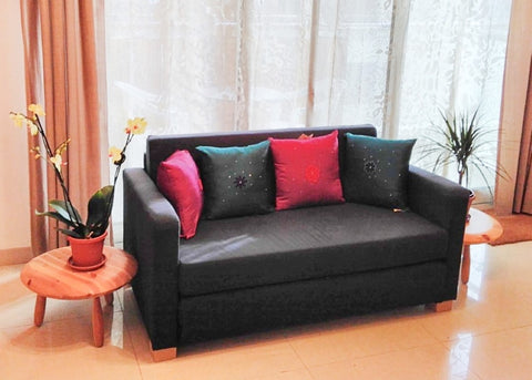 My living room before my minimalist transition - Fair Trade Ethical Living with Sabeena Ahmed