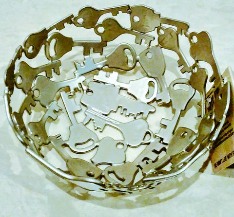 Recycled Fair trade key bowl produced by artisans at Noahs Ark Int, India - Fair trade ethical living with Sabeena Ahmed