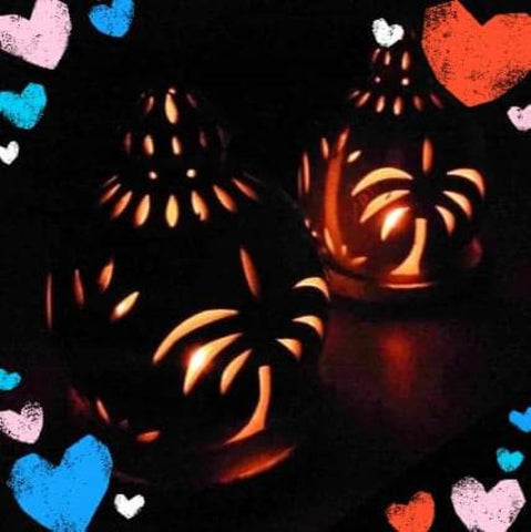 Omani lanterns with hearts