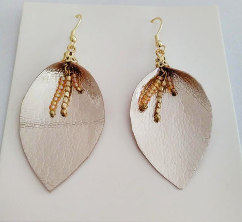Tara projects fairtrade gold leaf earrings gift - Sabeena Ahmed