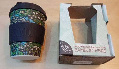 William Morris bamboo eco mug, Zero waste week 2020, Fair trade ethical living with Sabeena Ahmed