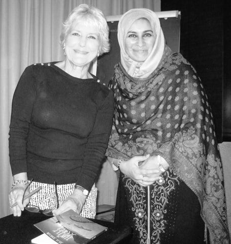 Julia Johnson with Sabeena Ahmed wearing a Black Kurta - Fair Trade Ethical Living,  Zero Waste Week 2019 with Sabeena Ahmed, Dubai, UAE