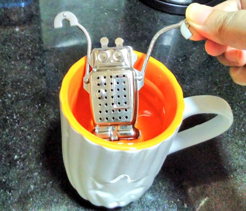 Robot tea diffuser - Sabeena Ahmed for Plastic Free July