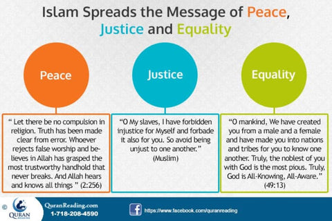 Islamic Message of Peace Justice and Equality - QuranReading.com