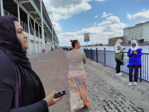 Badiri Academy and SSE ladies take a walk The Excel Marina - Sustainable Tourism in London visited July/August 2018