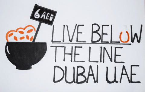 Live Below The Line 2014, Dubai, UAE with Sabeena Ahmed and the Little Fair Trade Shop