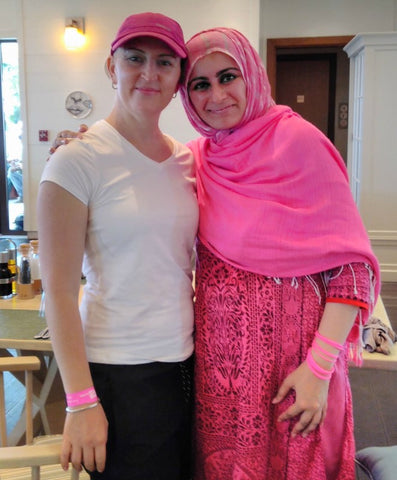 Lisa Coordinator of the Pink Ladies Games and Pink Caravan UAE with The Lilfairtrade Shop