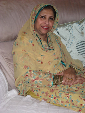 My beloved mother the late Mrs Meshar Mumtaz Bano fairtrade supporter extraordinaire, Manchester, UK