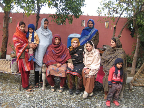 WFTO advocate, business woman and social activist Gulshan Bibi, Haripur, Pakistan visited by Sabeena Ahmed Jan 12