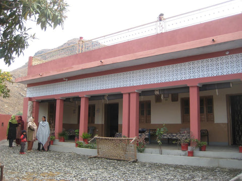 WFTO advocate, business woman and social activist Gulshan Bibi's house, Haripur, Pakistan visited by Sabeena Ahmed Jan 12