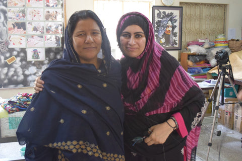 Sabeena Ahmed's interview with Mrs Nisreen at the Ra'ana Liaquat Craftman's Colony, Karachi, Pakistan (revisited 2015)