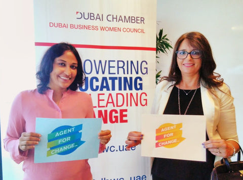 Beautiful Agents For Change celebrating World Fair Trade Day, Dubai, UAE with The Little Fair Trade Shop May 2017