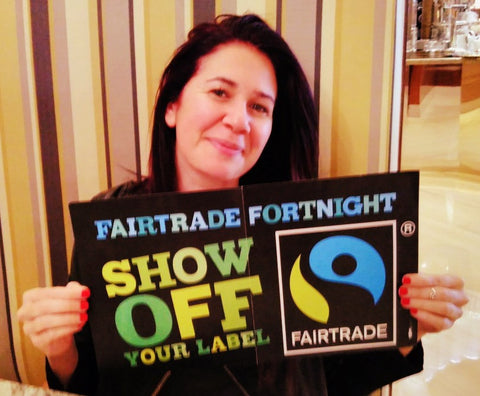 Natascia Radice supporting Fairtrade Fortnight in Dubai, UAE with Sabeena Ahmed of The Little Fair Trade Shop