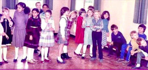 Sabeena Ahmed with friends at the Old Moat Junior School 1984/5, Manchester, UK