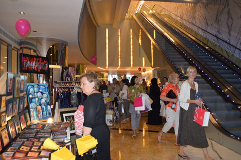 The Lilfairtrade Shop at the Pink Market Eithad Towers, Abu Dhabi October 2015 - Fairtrade and Breast Cancer Awareness