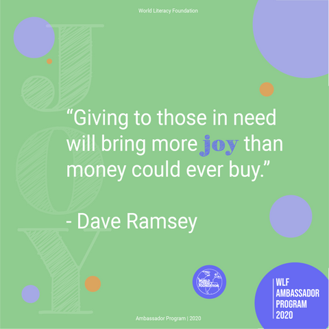 Quote Dave Ramsey - The World Literacy Foundation Ambassador Program with Sabeena Ahmed