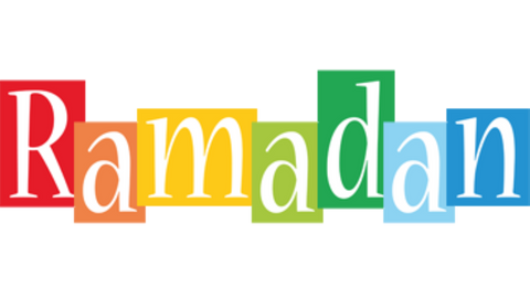 Ramadan words in multi colours