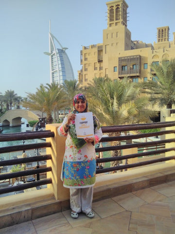 Irem Ahmed shows her support for SDG 2 Zero Hunger at Madinat Jumeirah Dubai September 2018