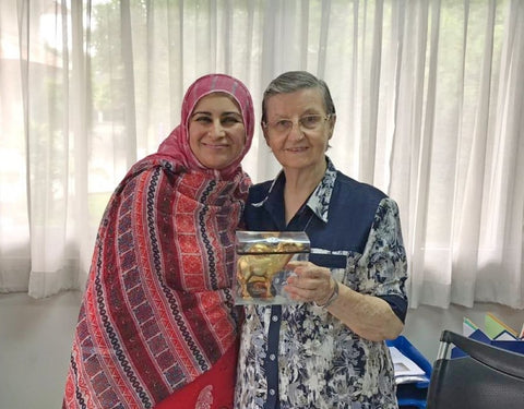Sabeena Ahmed with Sister Louise at the Good Shepherd Sisters Bangkok, visited June 2018