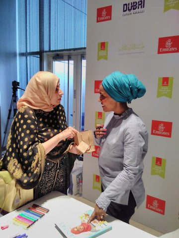 Celebrating Fairtrade Fortnight 17 with Nadiya Hussain and Sabeena Ahmed (The Little Fair Trade Shop) and The Fig Tree Chocolate produced by Bruce Crowther MBE. Venue: Emirates Airline Literature Festival, Dubai, UAE - March 17