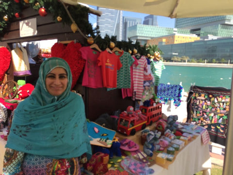 Sabeena Ahmed and The Little Fair Trade Shop at The Swiss Business Christmas Market, Abu Dhabi - December 2016