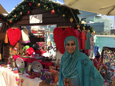 Sabeena Ahmed and The Little Fair Trade Shop at the Swiss Business Council Christmas market, Abu Dhabi - December 2016