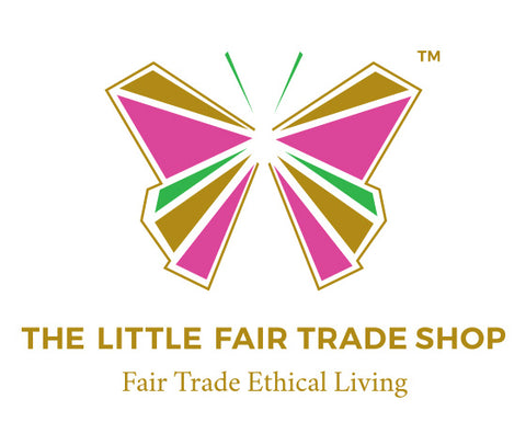The Little Fair Trade Shop Brand Logo Butterfly and strap line Fair Trade Ethical Living