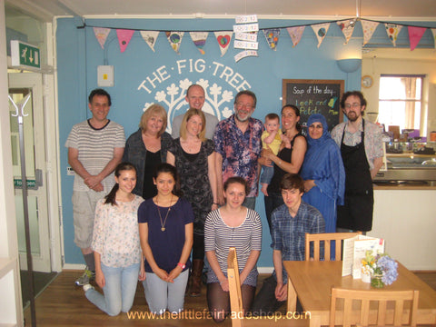 Bruce Crowther MBE with friends of The FIG Tree Garstang, August 2012 and The Little Fair Trade Shop