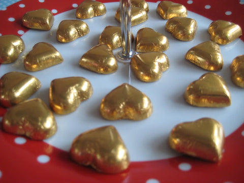 Delicious Divine chocolate hearts - Fairtrade Fortnight Dubai 2019 with Sabeena Ahmed