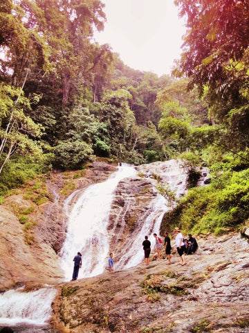 Large waterfall near the Cameron Highlands, Malaysia - Fair Trade Travels with Sabeena Ahmed and the Little Fair Trade Shop June 2017