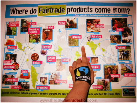 Where do fair trade products come from? Teaching fair trade to Yr 5 at the Manor Primary School Dubai Sept 17