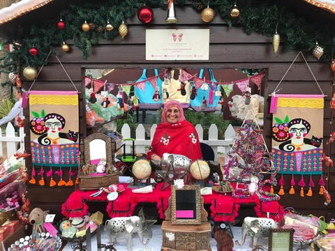 Sabeena Ahmed and The Little Fair Trade Shop at the Swiss Business Council Christmas Market Abu Dhabi, UAE, 2018