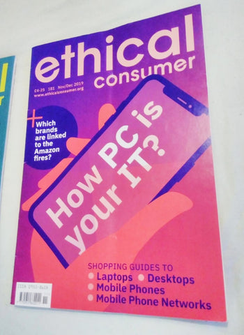 Ethical Consumer Magazine November December 2019 received by Sabeena Ahmed and The Little Fair Trade SHop