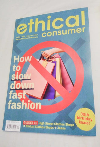 Ethical Consumer Magazine September October 2019 received by Sabeena Ahmed and The Little Fair Trade Shop