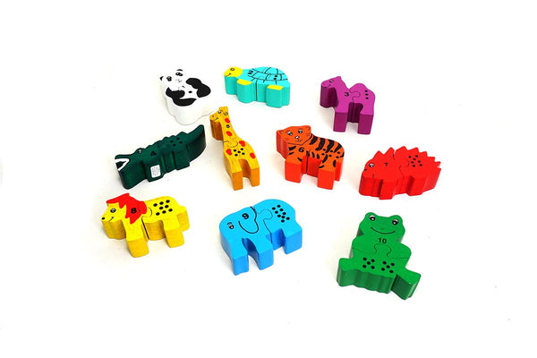 Fair trade children's wooden jigsaw puzzle