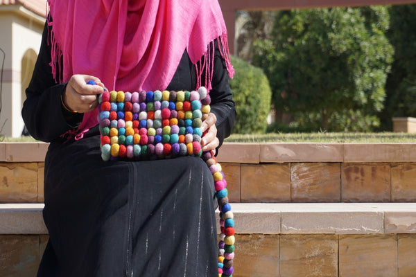 Handbag Multi-coloured Bobble