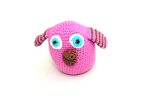 Fair trade pink baby rattle