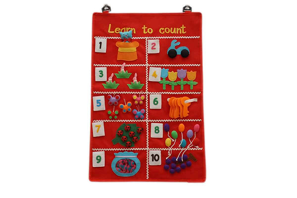 Fair Trade Children's Learn to Count Educational Wall Hanging