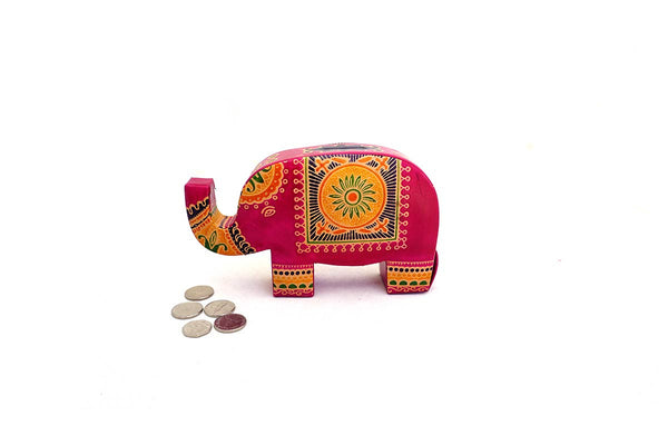 Mini Leather Fair Trade Elephant Money Box