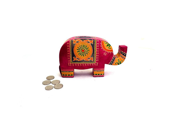 Leather elephant money box