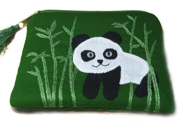 Fair Trade Appliqué Panda Coin Purse