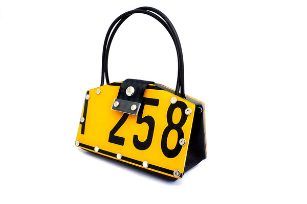Recycled Number Plate Handbag